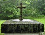 "13"" Foliated Cross Candle"